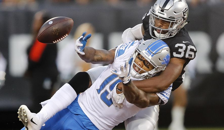 FILE - In this Aug. 10, 2018, file photo, Oakland Raiders ...