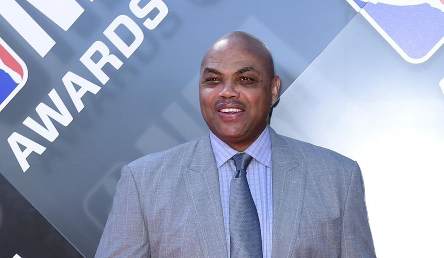 In this June 25, 2018, file photo Charles Barkley arrives for the NBA Awards at the Barker Hangar in Santa Monica, Calif. Barkley was honored in Philadelphia when he received the Lew Klein Excellence in the Media Award at Temple University on Friday, Oct. 5, 2018. (Photo by Richard Shotwell/Invision/AP, File)