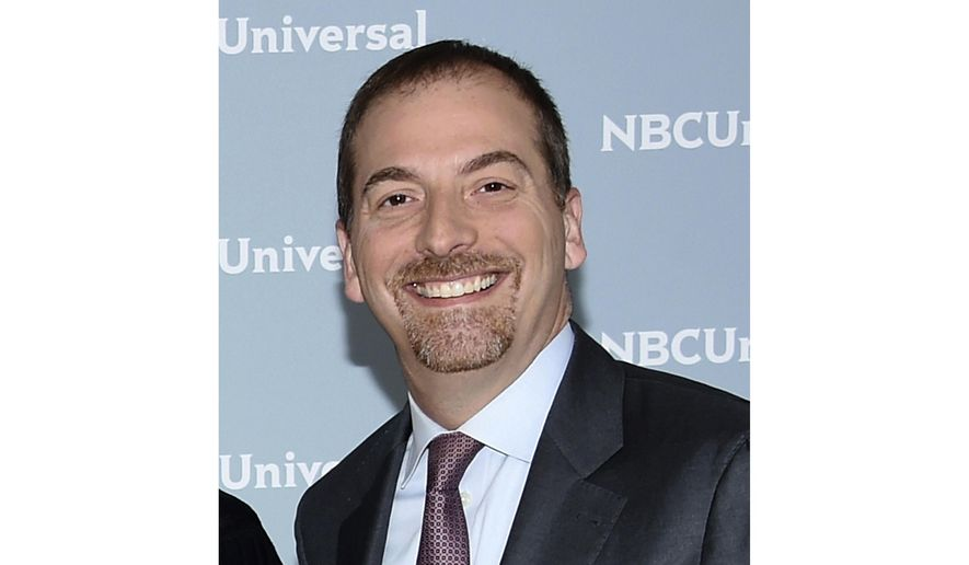 """""""Meet the Press"""" moderator Chuck Todd attends the 2018 NBCUniversal Upfront in New York, in this May 14, 2018 file photo. (Photo by Evan Agostini/Invision/AP) ** FILE **"""