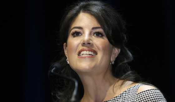 In this June 25, 2015, file photo, Monica Lewinsky attends the Cannes Lions 2015, International Advertising Festival in Cannes, southern France. (AP Photo/Lionel Cironneau, File)