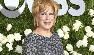 In this June 11, 2017, file photo, Bette Midler arrives at the Tony Awards in New York. (Photo by Evan Agostini/Invision/AP, File)