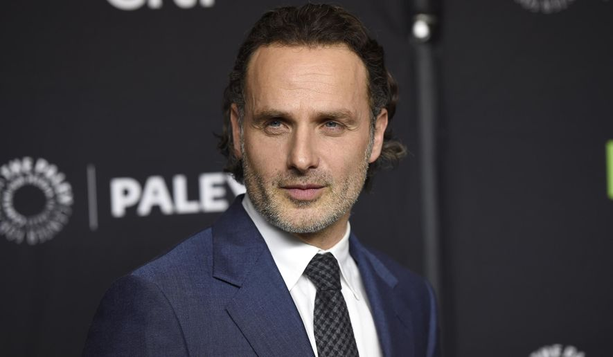 """FILE - In this March 17, 2017 file photo, Andrew Lincoln attends the 34th annual PaleyFest: """"The Walking Dead"""" event in Los Angeles. Lincoln has wrapped his final scene as an actor, and the show's upcoming season will be the last for his character, Sheriff Rick Grimes. The season premier is Sunday night on AMC. (Photo by Chris Pizzello/Invision/AP, File)"""