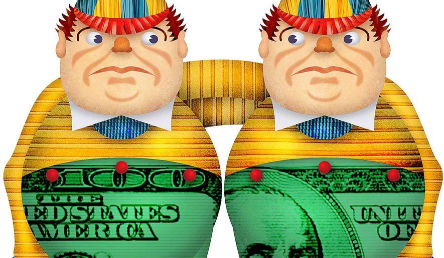 Credit Ratings by Tweedledum and Tweedledee Illustration by Greg Groesch/The Washington Times