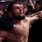 Khabib Nurmagomedov could face a suspension for his actions in a post-bout melee following his victory over Conor McGregor on Saturday at UFC 229. (ASSOCIATED PRESS)