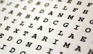 Word Search puzzle (Shutterstock)