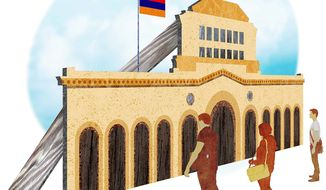 Armenian Potemkin Village Illustration by Greg Groesch/The Washington Times