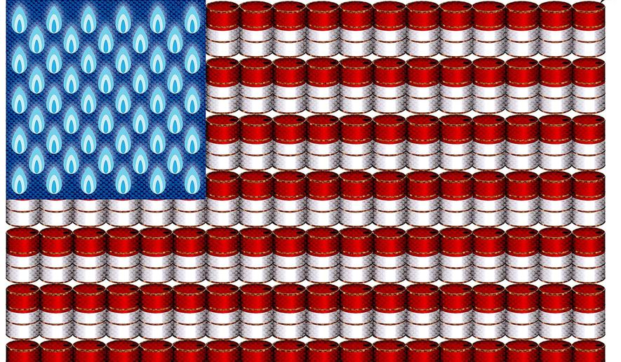U.S. Energy Flag Illustration by Greg Groesch/The Washington Times