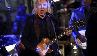 Honoree Joe Walsh performs at the Facing Addiction with NCADD (National Council on Alcoholism and Drug Dependence) gala at the Rainbow Room on Monday, Oct. 8, 2018, in New York. (Photo by Evan Agostini/Invision/AP)
