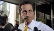 FILE - In this July 24, 2013 file photo, former New York Rep. Anthony Weiner leaves his apartment building in New York. The FBI informed Congress on Friday, Oct. 28, 2016, it is investigating whether there is classified information in new emails that have emerged in its probe of Hillary Clinton's private server. A U.S. official told The Associated Press the newly discovered emails emerged through the FBIs separate sexting probe of former congressman Anthony Weiner, the estranged husband of close Clinton confidant Huma Abedin.  (AP Photo/Richard Drew, File)