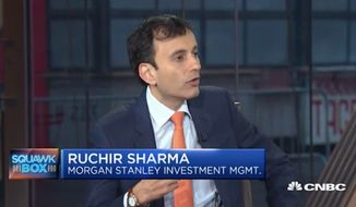 Ruchir Sharma, Morgan Stanley's chief global strategist and head of emerging markets equity, said Monday that the belief in American exceptionalism has never been higher among global investors. (CNBC)