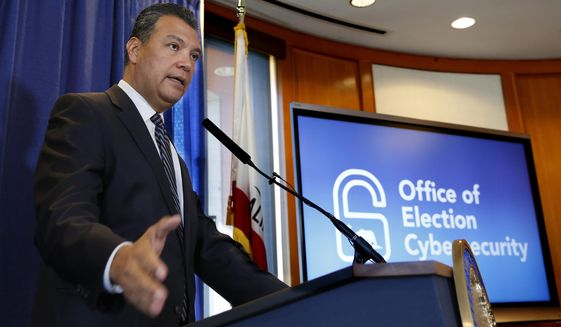 California Secretary of State Alex Padilla responds to a question concerning the voter registration of ineligible people by the California Department of Motor Vehicles, Tuesday, Oct. 9, 2018, in Sacramento, Calif. Padilla says he doesn't yet know if any of the roughly 1,500 people mistakenly registered to vote by the DMV voted in the June primary election. (AP Photo/Rich Pedroncelli)