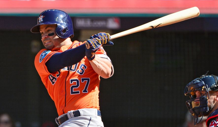 Second baseman Jose Altuve and the Houston Astros took another step toward defending their World Series crown with an ALDS sweep. (ASSOCIATED PRESS)