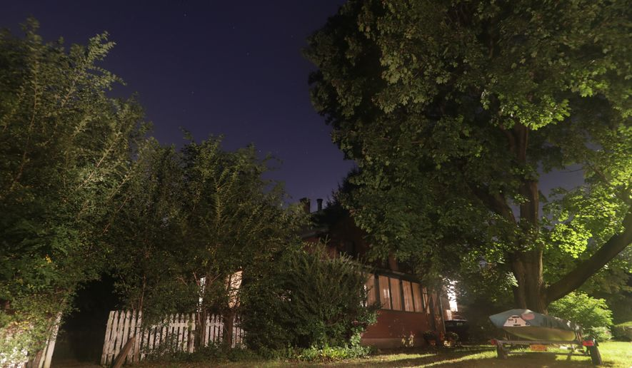 The home of Paul Rosenfeld is shown Wednesday, Oct. 10, 2018, in Tappan, N.Y. Rosenfeld, 56, of Tappan, was charged Wednesday with unlawfully manufacturing a destructive device and interstate transportation and receipt of an explosive. (AP Photo/Frank Franklin II)