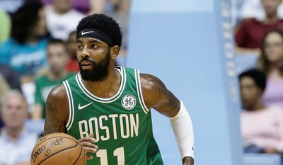 The Boston Celtics made it to Game 7 of the NBA Finals last season without injured guard Kyrie Irving. With Irving back, the Celtics are the favorite to return. (ASSOCIATED PRESS)