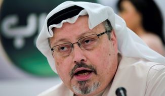 Saudi journalist Jamal Khashoggi (Associated Press) ** FILE **