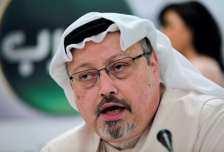 Saudi journalist Jamal Khashoggi (Associated Press) ** FILE **