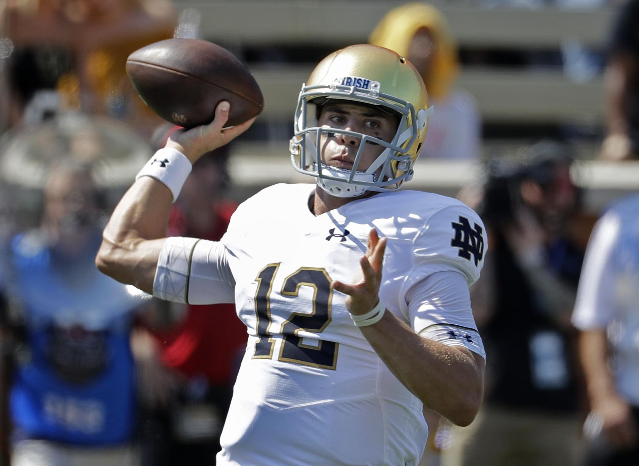 QB Ian Book starring for Irish after being lightly recruited - Washington Times