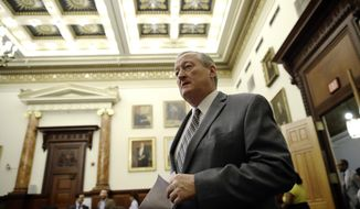 Philadelphia Mayor Jim Kenney arrives for a news conference at City Hall to discus bail reform at a news conference at City Hall in Philadelphia, Thursday, Oct. 11, 2018. (AP Photo/Matt Rourke)