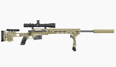 """M2010 Enhanced Sniper Rifle, formerly known as theXM2010andM24 Reconfigured Sniper Weapon System, is asniper rifledeveloped byPEO Soldierfor theUnited States Army. It is derived from theM24 Sniper Weapon Systemand replaced the existing M24s. After winning a competitive bidding process, Remington was awarded the production contract for up to 3,600 weapons. The Army had anticipated fielding upgraded weapons to deployed U.S. Army Snipers near the end of December 2010, but later expected fielding would happen in January 2011. The M2010 system differs from the prior M24 Sniper Weapon System in that it fires.300 Winchester Magnum(7.62×67mm) ammunition to provide approximately 50 percent additional effective range relative to the M24's7.62×51mm NATO. This chambering to dimensionally larger cartridges is possible because the M24 Sniper Weapon System was designed to use the """"long action"""" bolt version of theRemington 700receiver for cartridges up to 3.34 inches (84.84mm) in overall length. The U.S. Army developed the system so that the additional effective range would help snipers in engagements in mountainous and desert terrain in which theWar in Afghanistanwas being fought."""