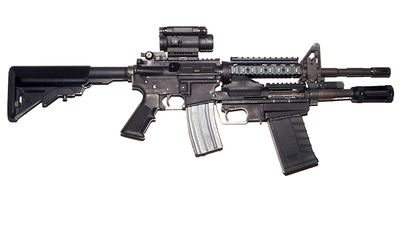 M26 Modular Accessory Shotgun System (MASS) is a developmental under-barrel shotgun attachment for the M16/M4 family of United States military firearms. It can also be fitted with a pistol grip and collapsible stock to act as a stand-alone weapon. It is replacing the current M500 shotguns in service