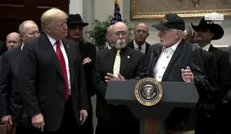 Beach Boys singer Mike Love heaped praise on President Trump after watching him sign the Music Modernization Act into law on Thursday, crediting the president with trying to help a number of musicians including Whitney Houston with her drug addiction. (YouTube/White House)