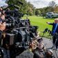 "The majority of Americans, 55 percent, say they believe President Trump is just ""venting,"" when he slams journalists and news media. Both Democrats and Republicans agree on this, the study says. (Associated Press)"