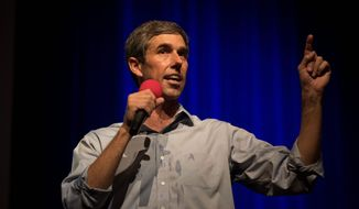 Democratic Senate candidate Rep. Beto O'Rourke has shattered fundraising records — he received $38 million in the third quarter, the most any senatorial candidate has ever amassed in one quarter. (Associated Press Photographs)