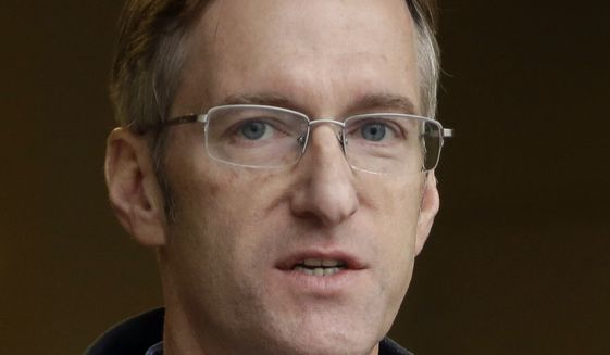In this Jan. 17, 2017, file photo, Portland Mayor Ted Wheeler speaks during a press conference in Portland, Ore.  Wheeler is condemning the actions of some protesters after a May Day march took a violent turn in Portland Monday, May 1, 2017.  (AP Photo/Don Ryan)
