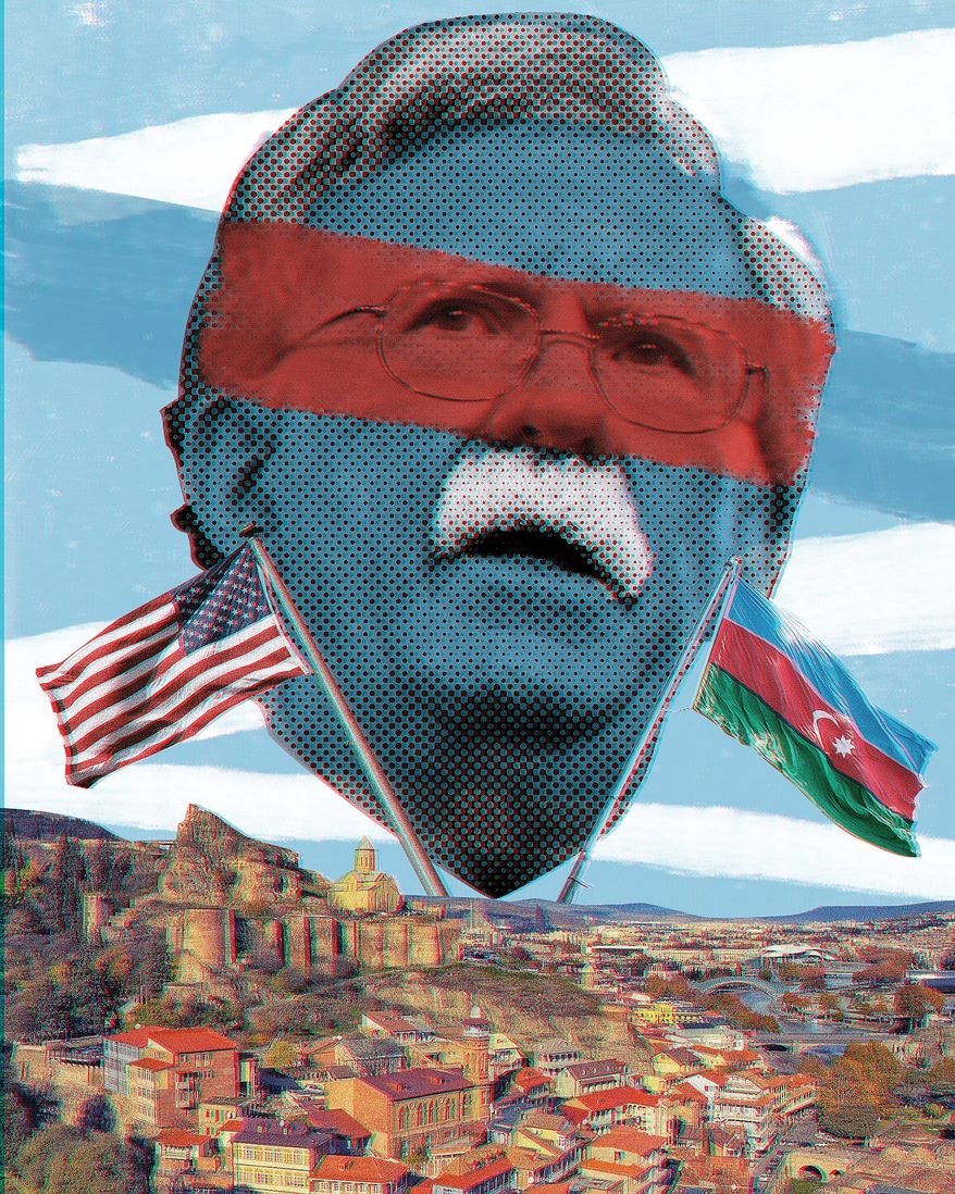 Illustration of John Bolton by Linas Garsys/The Washington Times