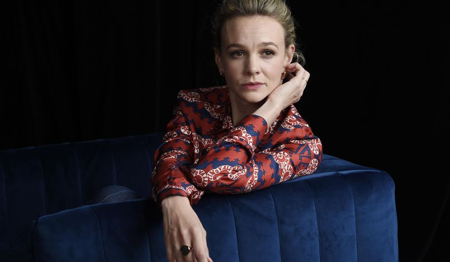 """This Sept. 9, 2018 photo shows actress Carey Mulligan, a cast member in the film """"Wildlife,"""" posing for a portrait during the Toronto International Film Festival in Toronto. (Photo by Chris Pizzello/Invision/AP)"""