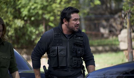 "Actor Dean Cain shown here in the role of detective James Woods, part of the cast ""Gosnell: The Trial of America's Biggest Serial Killer,"" an independent dramatic film. (Image courtesy of Gosnellmovie.com/Phelim McAleer and Ann McElhinney)"