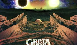 """This cover image released by Lava/Republic shows """"Anthem Of The Peaceful Army,"""" a release by Greta Van Fleet. (Lava/Republic via AP)"""