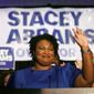 Georgia Democratic candidate Stacey Abrams is trying to become the nation's first female black governor. Real Clear Politics average gives her opponent Brian Kemp a 2-percentage point lead. (Associated Press)