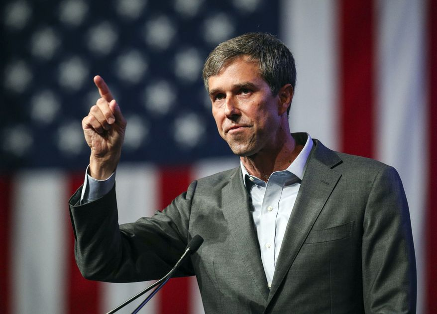 In this June 22, 2018, file photo, Beto O'Rourke speaks during the general session at the Texas Democratic Convention in Fort Worth, Texas. (AP Photo/Richard W. Rodriguez, File)