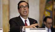 Treasury Secretary Steve Mnuchin speaks during a meeting of the Financial Stability Oversight Council, Tuesday, Oct. 16, 2018, at the Treasury Department, in Washington. (AP Photo/Jacquelyn Martin)