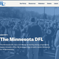 Screenshot of the Minnesota Democratic-Farmer-Labor Party's Website.