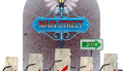 Main Street Voters Illustration by Greg Groesch/The Washington Times
