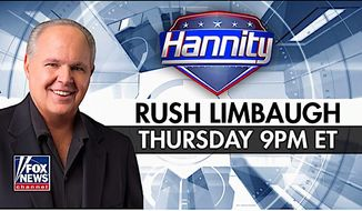 It's must-see TV: Talk radio kingpin Rush Limbaugh meets cable news kingpin Sean Hannity during an encounter at 9 p.m. EDT on Thursday. (Fox News Channel)