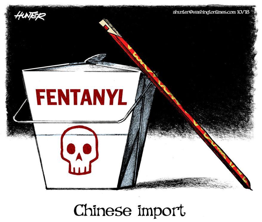 Illustration by Alexander Hunter for The Washington Times (published October 17, 2018)
