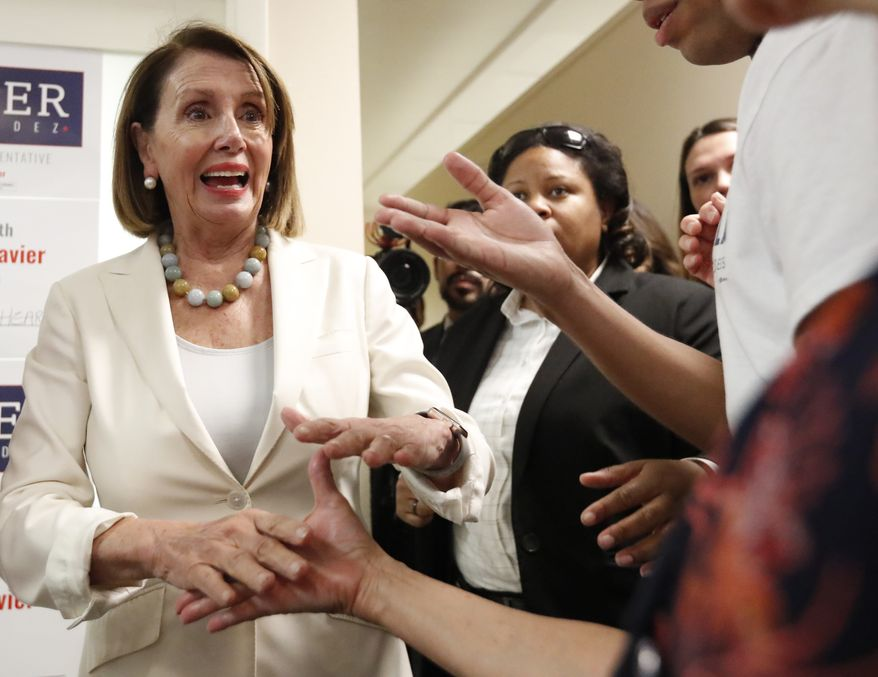 "House Minority Leader Nancy Pelosi is also confident that Democrats will prevail in the midterm elections. ""If the election were held today, the Democrats would handily win the House,"" she said. (Associated Press/File)"