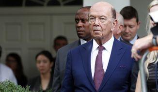 Commerce Secretary Wilbur Ross stands in the Rose Garden of the White House, in Washington  (AP Photo/Alex Brandon, file)