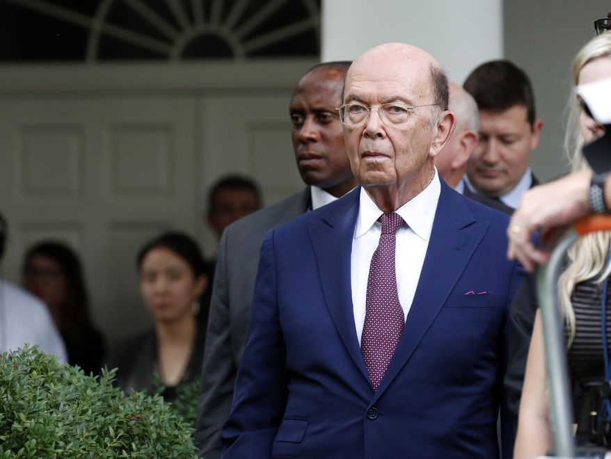 Commerce Secretary Wilbur Ross stands in the Rose Garden of the White House, in Washington  (AP Photo/Alex Brandon, file)