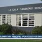 La Jolla Elementary School Principal Donna Tripi apologized Wednesday after she sent an email alerting parents that there was a suspicious black man at a local Starbucks. (screenshot NBC San Diego)