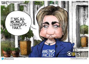 It was all Monica Lewinsky's fault.