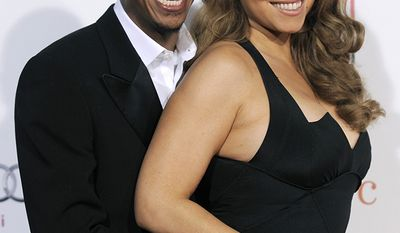 "Mariah Carey, born 1969 and Nick Cannon, born 1980, Age Difference: 12 years                                      Mariah Carey and her husband Nick Cannon arrive at the premiere of the film ""Precious: Based on the Novel 'Push' by Sapphire,"" at AFI Fest 2009 in Los Angeles. Recommitting to a relationship through vow renewals is becoming more and more popular, some wedding experts say. One reason is it's a great way to reconnect.  Wed in 2008, Carey and Cannon renew their vows every year. (AP Photo/Chris Pizzello, file)"