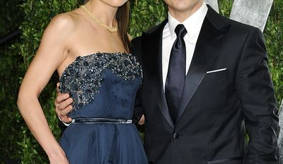 Tom Cruise, born 1962 and Katie Holmes, born 1978, Age Difference: 16 years                         Actors Tom Cruise and Katie Holmes arrive at the Vanity Fair Oscar party on Sunday, Feb. 26, 2012, in West Hollywood, Calif. (AP Photo/Evan Agostini)