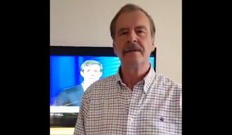 Vicente Fox, Mexico's former president, released a video on Oct. 18, 2018, praising Democratic Party Senate candidate Beto O'Rourke. (Twitter, Vicente Fox video screenshot)