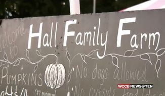 """The Hall Family Farm in North Carolina is facing accusations of racism after a tour guide recited their decade-old script mentioning """"cotton pickers"""" to a predominantly black group of students. (WCCB)"""