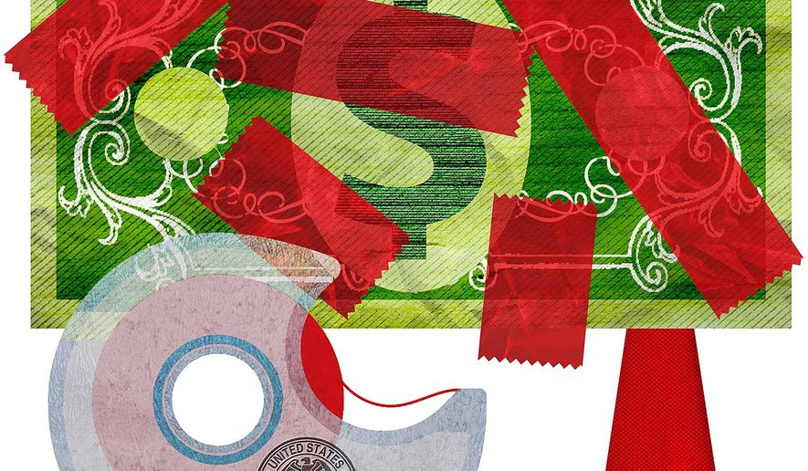 Over-regulation by the Federal Reserve Illustration by Greg Groesch/The Washington Times