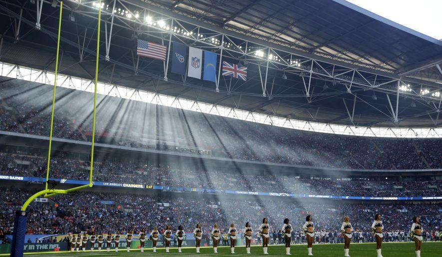 NFL announces London, Mexico City 2019 matchups - Washington Times
